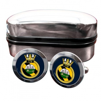 779 Naval Air Squadron (Royal Navy) Round Cufflinks