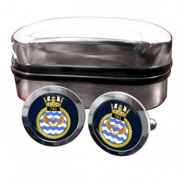 781 Naval Air Squadron (Royal Navy) Round Cufflinks