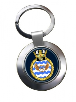 781 Naval Air Squadron (Royal Navy) Chrome Key Ring
