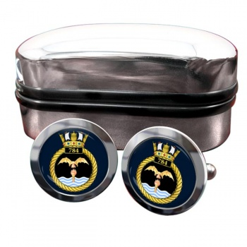 784 Naval Air Squadron (Royal Navy) Round Cufflinks
