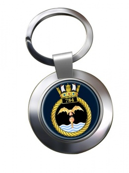 784 Naval Air Squadron (Royal Navy) Chrome Key Ring