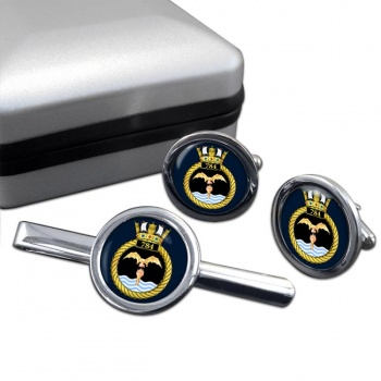 784 Naval Air Squadron (Royal Navy) Round Cufflink and Tie Clip Set