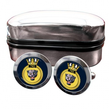 792 Naval Air Squadron (Royal Navy) Round Cufflinks