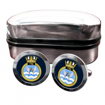 796 Naval Air Squadron (Royal Navy) Round Cufflinks