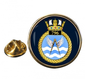 796 Naval Air Squadron Round Pin Badge