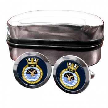 799 Naval Air Squadron (Royal Navy) Round Cufflinks