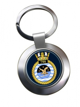 799 Naval Air Squadron (Royal Navy) Chrome Key Ring