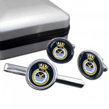 799 Naval Air Squadron (Royal Navy) Round Cufflink and Tie Clip Set