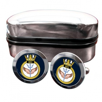 801 Naval Air Squadron (Royal Navy) Round Cufflinks