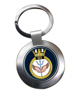 801 Naval Air Squadron (Royal Navy) Chrome Key Ring