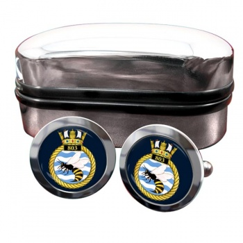803 Naval Air Squadron (Royal Navy) Round Cufflinks