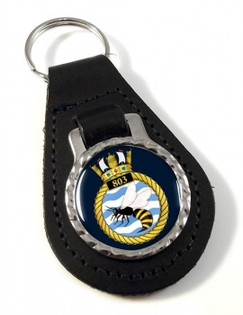 803 Naval Air Squadron Leather Key Fob