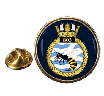 803 Naval Air Squadron Round Pin Badge