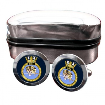 804 Naval Air Squadron (Royal Navy) Round Cufflinks