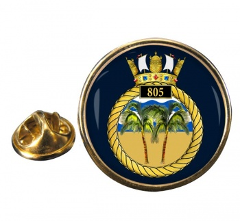 805 Naval Air Squadron  Round Pin Badge