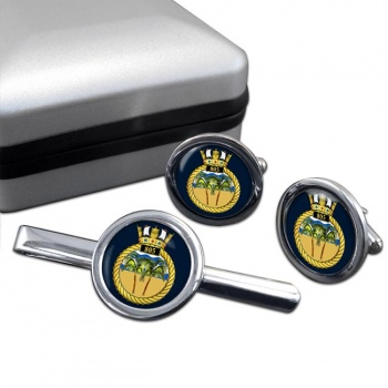 805 Naval Air Squadron  Round Cufflink and Tie Clip Set