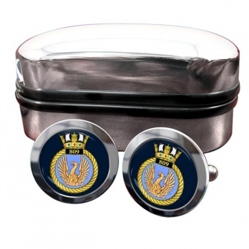 809 Naval Air Squadron (Royal Navy) Round Cufflinks