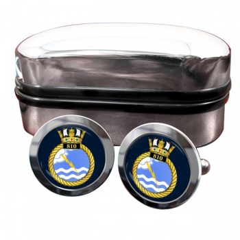 810 Naval Air Squadron (Royal Navy) Round Cufflinks