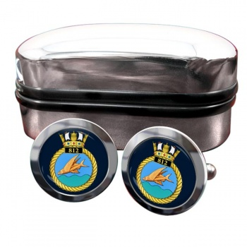 812 Naval Air Squadron (Royal Navy) Round Cufflinks