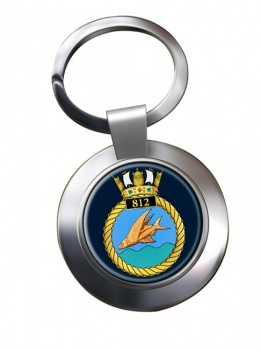 812 Naval Air Squadron (Royal Navy) Chrome Key Ring