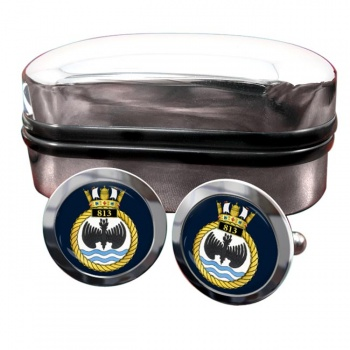 813 Naval Air Squadron (Royal Navy) Round Cufflinks