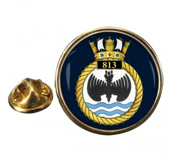 813 Naval Air Squadron (Royal Navy) Round Pin Badge