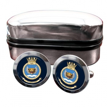 814 Naval Air Squadron (Royal Navy) Round Cufflinks