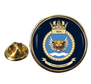 814 Naval Air Squadron (Royal Navy) Round Pin Badge