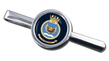 814 Naval Air Squadron (Royal Navy) Round Tie Clip