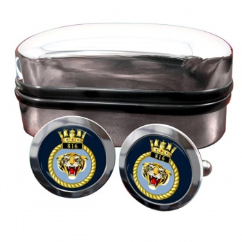 816 Naval Air Squadron (Royal Navy) Round Cufflinks