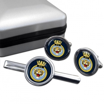 816 Naval Air Squadron (Royal Navy) Round Cufflink and Tie Clip Set