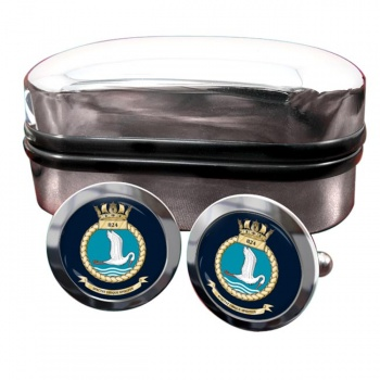 824 Naval Air Squadron (Royal Navy) Round Cufflinks