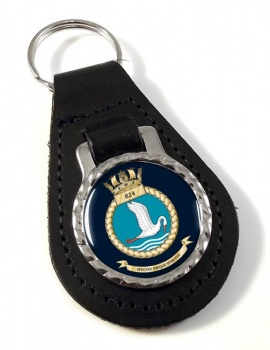 824 Naval Air Squadron (Royal Navy) Leather Key Fob