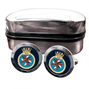 825 Naval Air Squadron (Royal Navy) Round Cufflinks