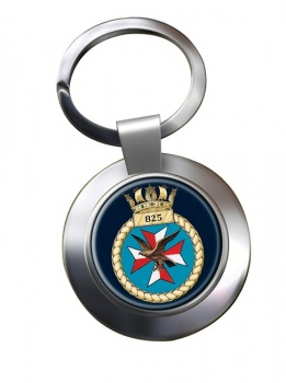 825 Naval Air Squadron (Royal Navy) Chrome Key Ring