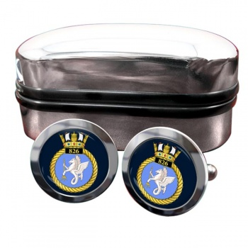 826 Naval Air Squadron (Royal Navy) Round Cufflinks