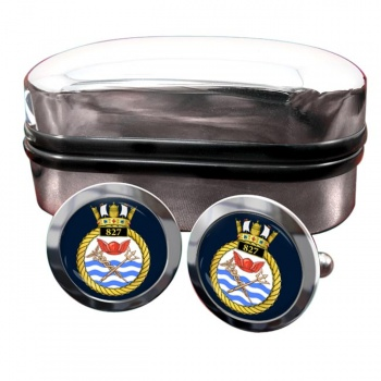 827 Naval Air Squadron (Royal Navy) Round Cufflinks
