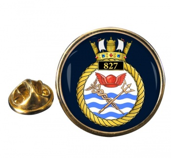 827 Naval Air Squadron (Royal Navy) Round Pin Badge