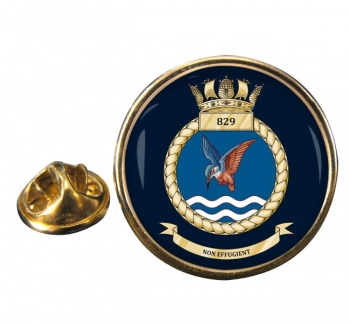 829 Naval Air Squadron (Royal Navy) Round Pin Badge