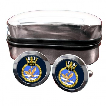 834 Naval Air Squadron (Royal Navy) Round Cufflinks