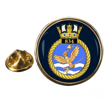 834 Naval Air Squadron Round Pin Badge