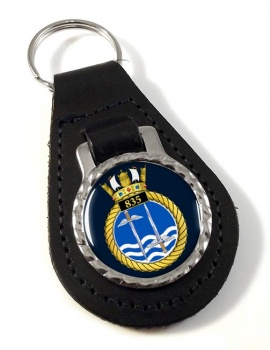 835 Naval Air Squadron Leather Key Fob
