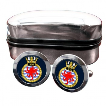 836 Naval Air Squadron (Royal Navy) Round Cufflinks