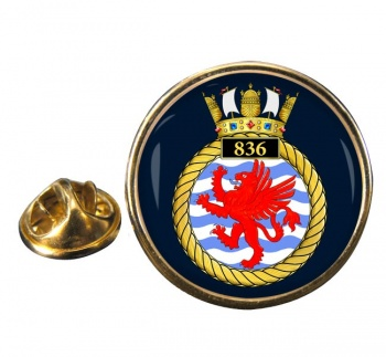 836 Naval Air Squadron Round Pin Badge