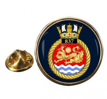 837 Naval Air Squadron Round Pin Badge