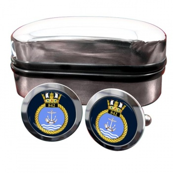 842 Naval Air Squadron (Royal Navy) Round Cufflinks