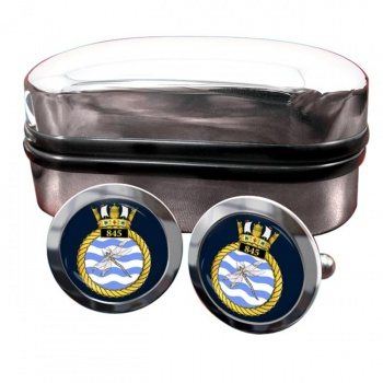 845 Naval Air Squadron (Royal Navy) Round Cufflinks