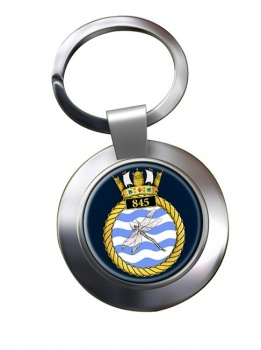 845 Naval Air Squadron Chrome Key Ring
