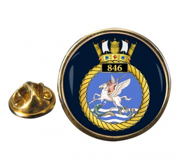 846 Naval Air Squadron Round Pin Badge