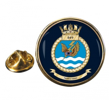 849 Naval Air Squadron  Round Pin Badge
